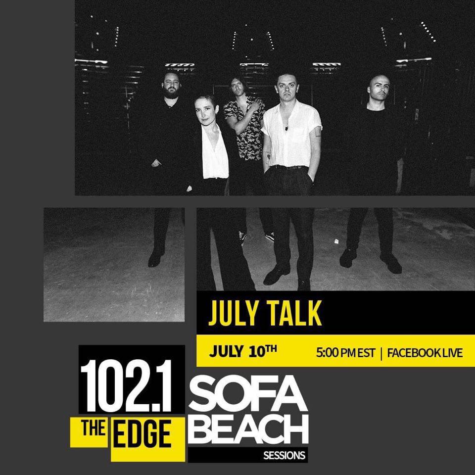 July Talk Sofa Beach Session