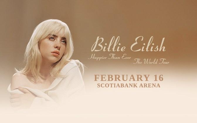 Billie Eilish Tour Scotiabank Arena February 16 2022